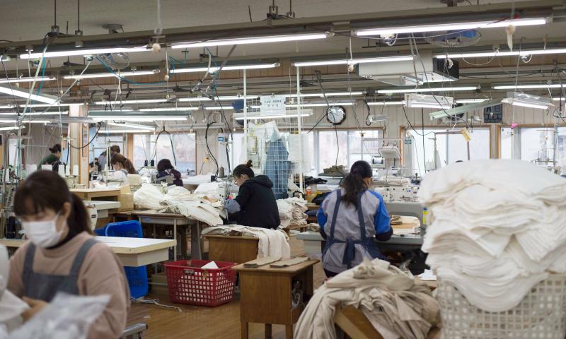 一流にふさわしい縫製工場