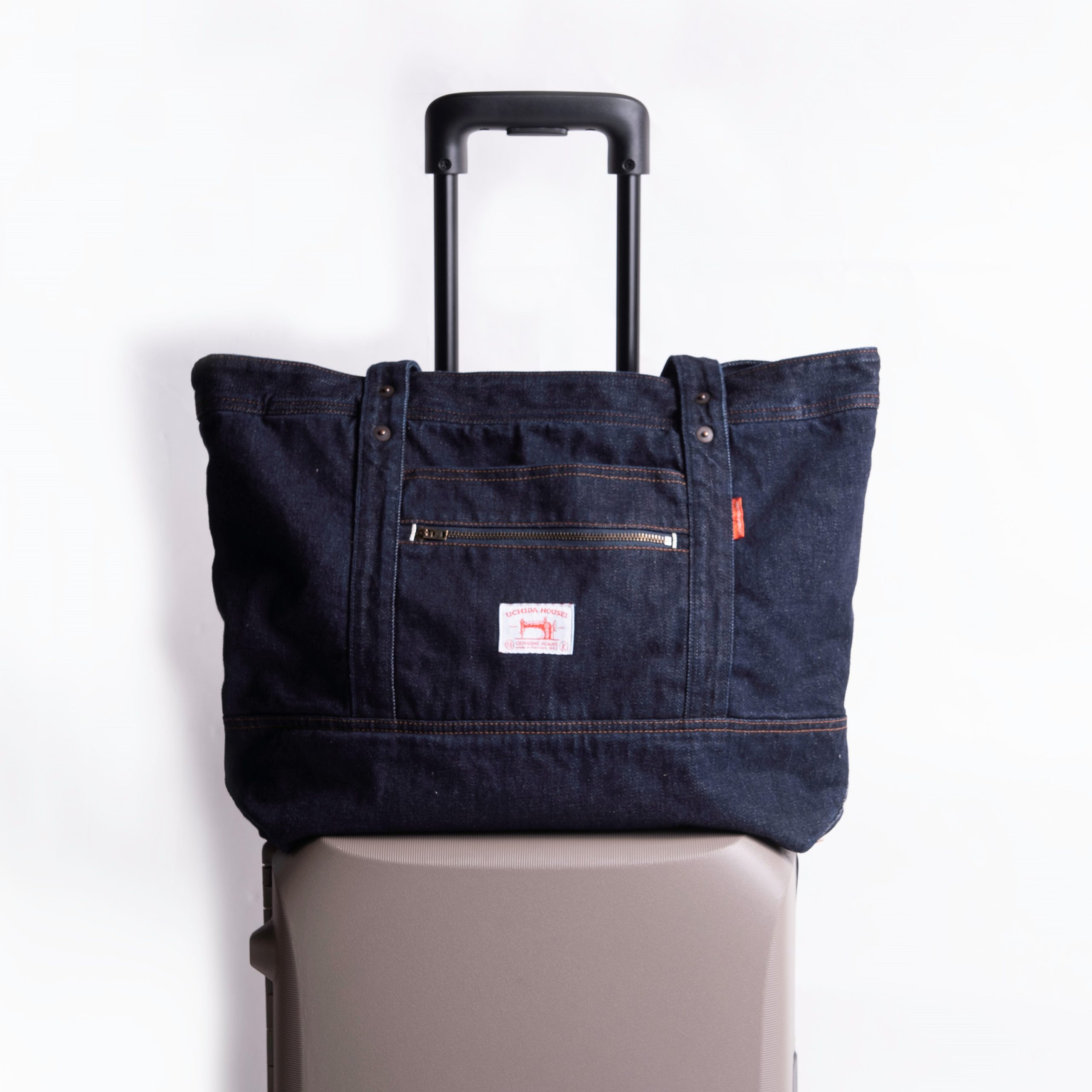 SELVEDGE DENIM CARRY-ON TOTE  BAG OW【セルヴィッジ デニム キャリーオン トートバッグ OW】