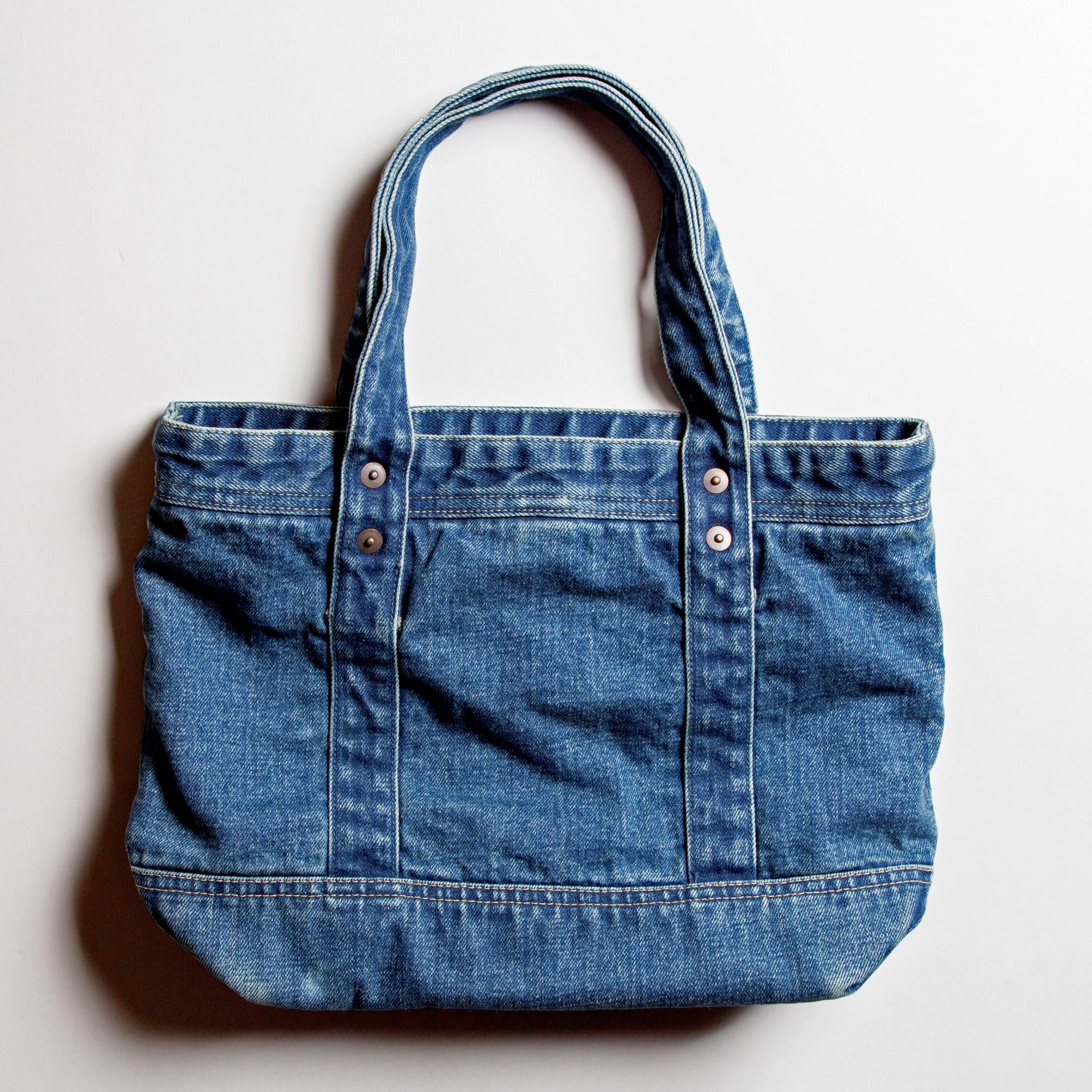 SELVEDGE DENIM SMALL TOTE  BAG USED【セルヴィッジ デニム スモール トートバッグ USED】